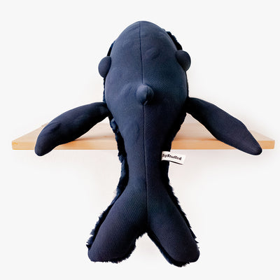 BigStuffed Small Night Whale, hval bamse - 56 cm