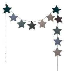 Numero 74 mini star guirlande, mix blue