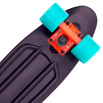 "Penny board 22"", skateboard til børn - Bright light black/torquoise"