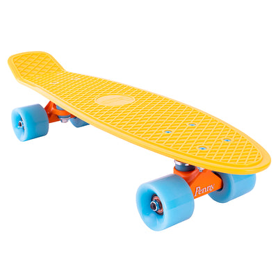 "Penny board 22"", skateboard til børn - High vibe yellow/blue"