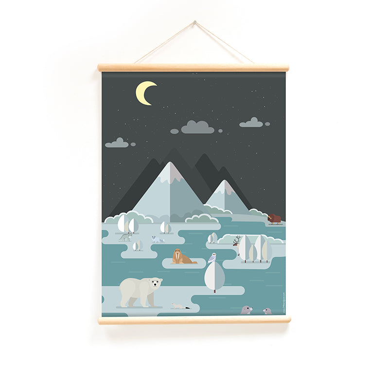 Little & Pure plakat, Vintage, Polardyr - 50 x 70 cm