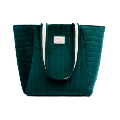 Nobodinoz velour pusletaske, Savanna velvet - Jungle green