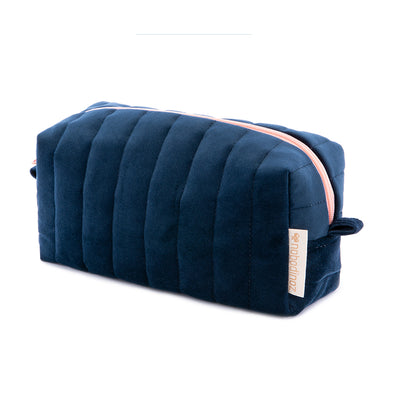 Nobodinoz velour toilettaske, Savanna velvet - night blue