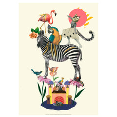 Tex og Jack illustration, Dancing queen - 42 x 59.4 cm