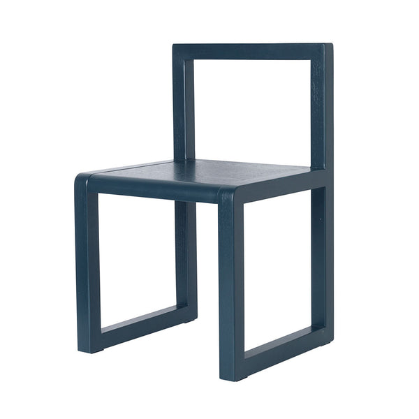 ferm Living børnestol, Little Architect Chair - dark blue