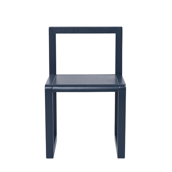 ferm Living børnestol, Little Architect Chair - dark blue vist forfra