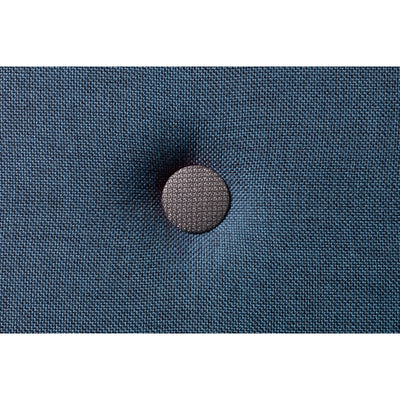 By KlipKlap 3 fold madras, 200 cm - dark blue w. black buttons