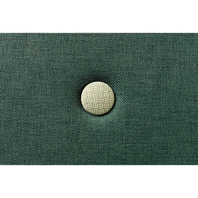 By KlipKlap 3 fold madras, 200 cm - deep green w. light green buttons
