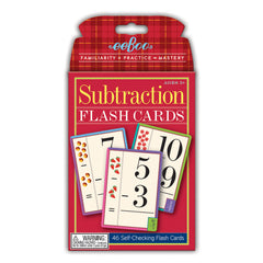 Flash Cards, Subtraction - Lær at trække fra