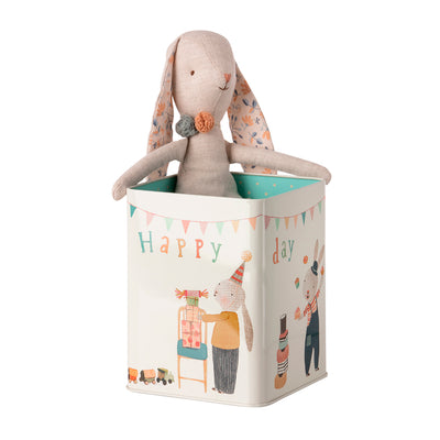 Maileg Bunny kanin i box, Happy day - Medium