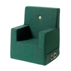 By KlipKlap Kids Chair XL, deep green w. light green button
