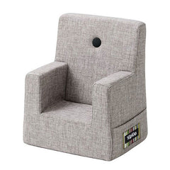 By KlipKlap Kids Chair, multi grey w. grey button