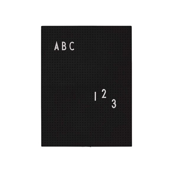Design Letters Message Board, A4 - black