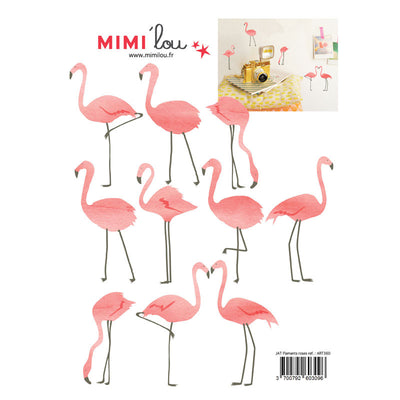 Mimi Lou wallsticker, mini flamingoer