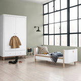 Oliver Furniture, Wood Mini+ tremmeseng - hvid/eg