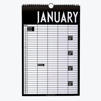 Design Letters, monthly planner