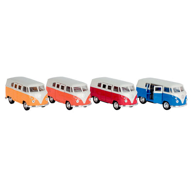 Bil i metal, VW mini-bus 1:37 - ass. farver