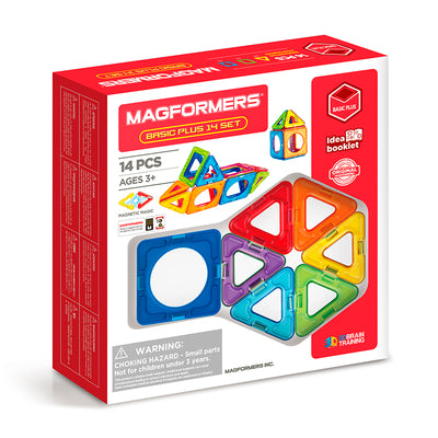 Magformers, magnetisk byggesæt - Basic Plus 14 set