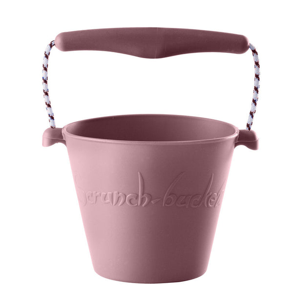 Scrunch-bucket, blød foldbar spand - dusty rose