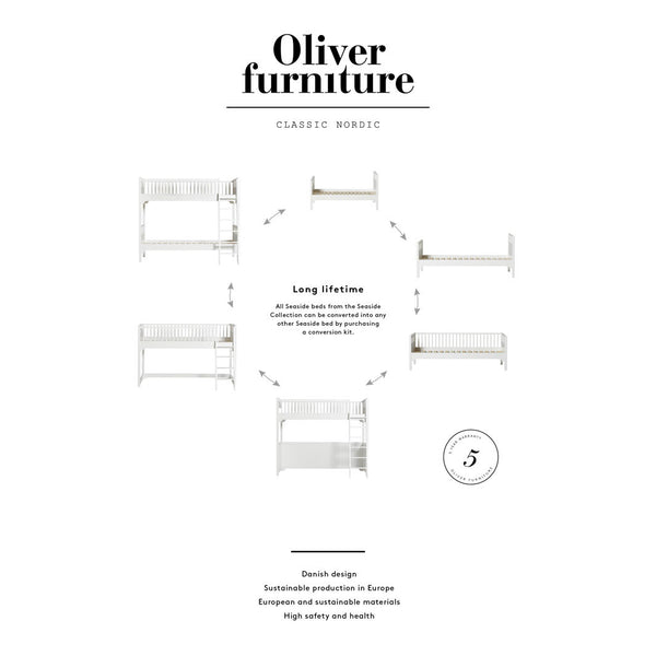 Oliver Furniture Seaside køjeseng m. skrå stige