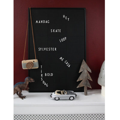 Design Letters Message Board, A2 - black
