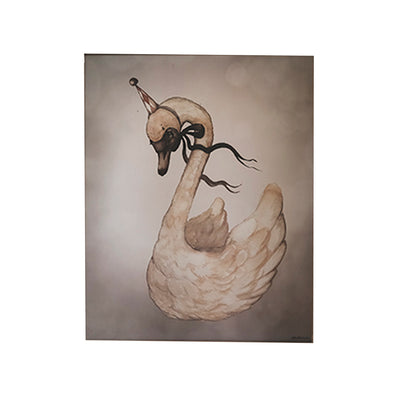 Mrs. Mighetto plakat, Dear Swan - 40 x 50 cm - Limited Edition