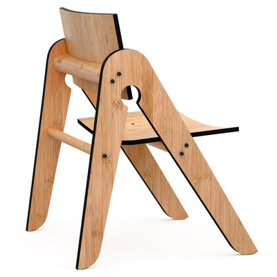 We Do Wood børnestol, Lilly's chair - black
