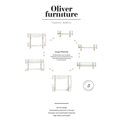 Oliver Furniture, Wood juniorseng - hvid