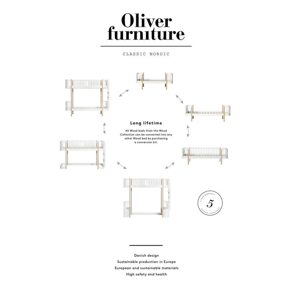 Oliver Furniture, Wood sofaseng - hvid
