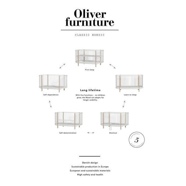 Oliver Furniture, Wood tremmeseng - hvid NY