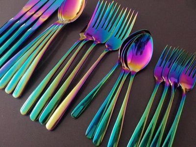 Prismatic Rainbow Cutlery (4 Pcs Set)