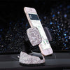 CAR PHONE HOLDER WITH CRYSTAL RHINESTONES