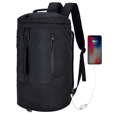 VERSATILE™ Multi-Function Portable Travel Waterproof Daypack With USB Access