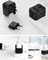 EasyTravel™ Worldwide Travel Plug Adapter Kit with Storage Box