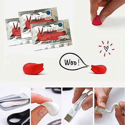 V-tie 9 pcs Moldable Glue DIY Fixing Silicone Rubber Repair Tools