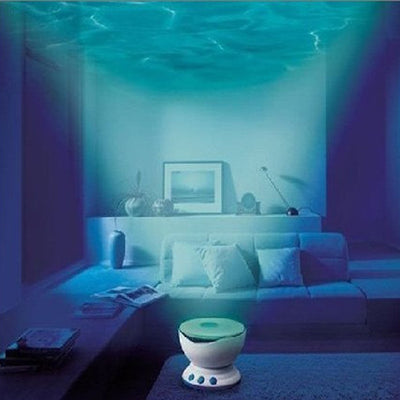 Aurora Master Ocean Wave Night-Light Projector with Built-in Speaker