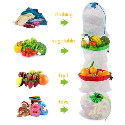 GreenEco™ REUSABLE STORAGE BAG, 12 PIECES