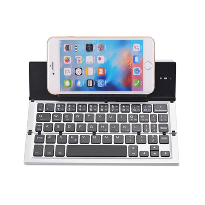 Aluminum Alloy Portable Ultra Slim Wireless Bluetooth Keyboard with Stand
