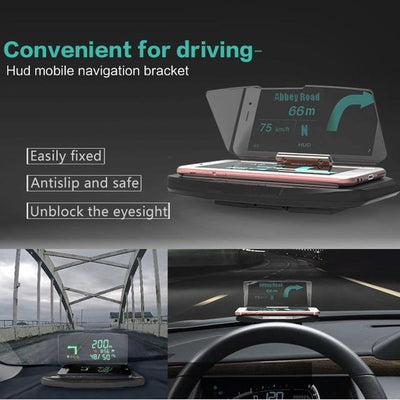 Brand New Universal Car 360° GPS HUD Heads Up Display Mobile Phone Holder