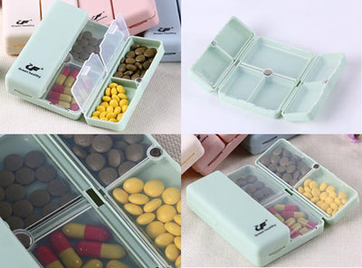 Green Healthy™ Portable Supplements Box With Magnetic Snap Closure