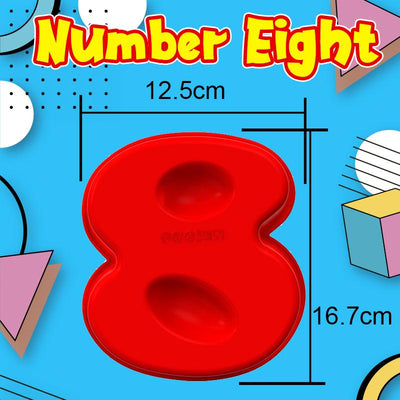 Perfect Number Shape Cake Molder