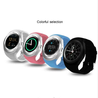 Bluetooth Touch Screen Smartwatch with Sports Pedometer, Microphone & Speaker for IOS Android