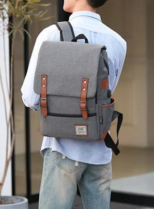 Unisex Retro Canvas Travel Daypack