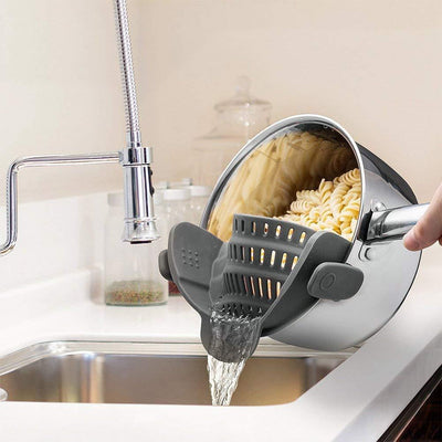 Clip-On BPA Free Silicon Strainer