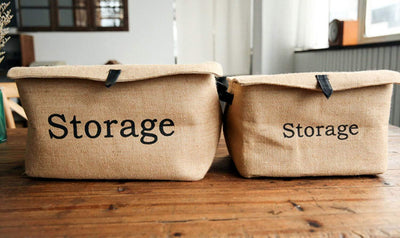 Handmade Vintage Style Eco-Friendly Storage/Laundry Waterproof Jute Bag