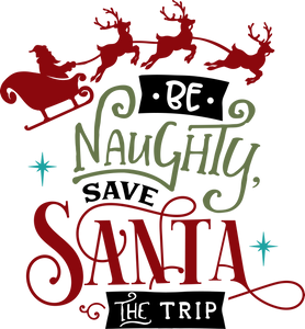 Funny Christmas T-shirt Youth, Be Naughty