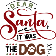 Load image into Gallery viewer, Funny Christmas T-shirt Youth, Dear Santa - It was the Dog