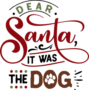 Funny Christmas T-shirt Youth, Dear Santa - It was the Dog