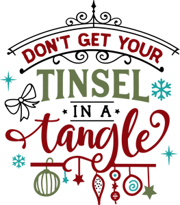 Funny Christmas T-shirt Youth, Tinsel in a Tangle
