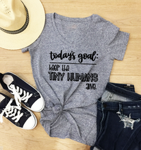 Load image into Gallery viewer, Funny Mom T-Shirts - Tiny Humans Alive